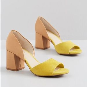 Seychelles shabby chic leather slide on heels NWOT
